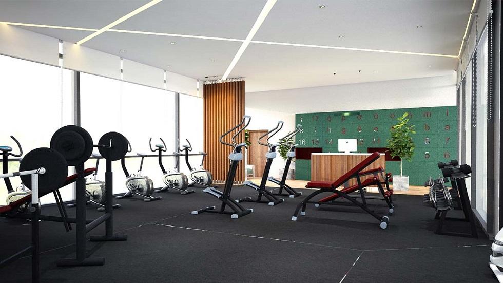 Khu tập Gym hiện đại tại Jamila