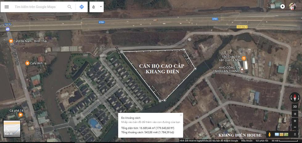 Vị trí dự án Jamila Khang Điền trên bản đồ